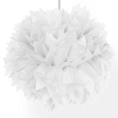 Feestfestijn Hangdecoratie Witte Pom Pom - 30cm