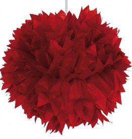 Feestfestijn Hangdecoratie Rood Pom Pom