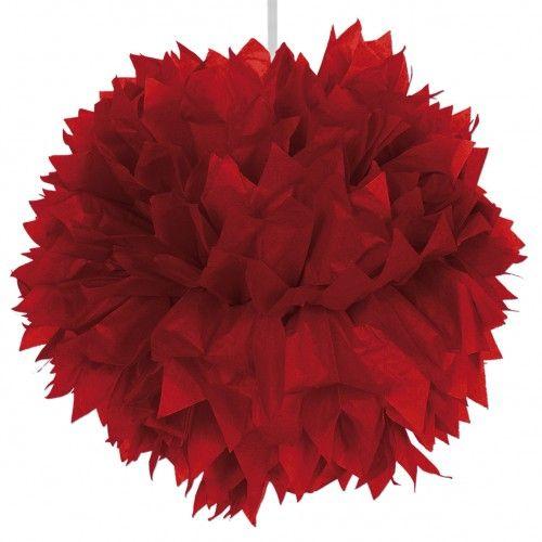 Feestfestijn Hangdecoratie Rood Pom Pom - 30cm