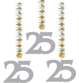 Feestfestijn Hangdecoratie 25 Zilver