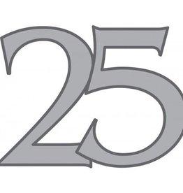 Feestfestijn Deurbord 25 jaar Zilveren bruiloft