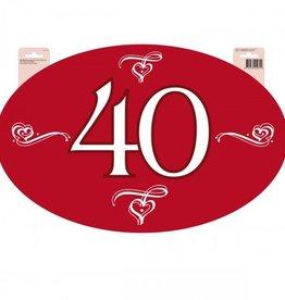 Feestfestijn Deurbord 40 jaar Robijnen bruiloft