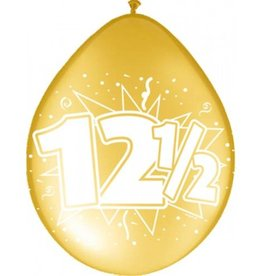 Feestfestijn Ballon 12,5 jaar Brons 8 stuks