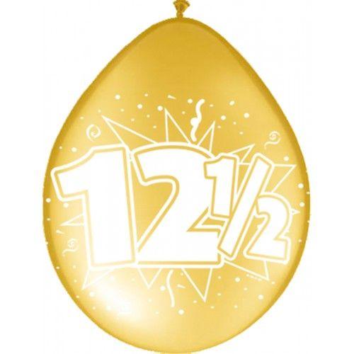 Feestfestijn Ballon 12,5 jaar Brons 8 stuks - 30cm