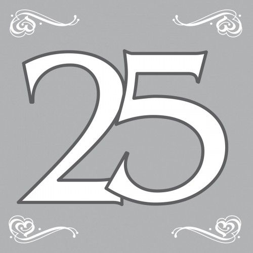 Feestfestijn Servetten Zilver 25