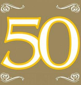 Feestfestijn Servetten Goud 50