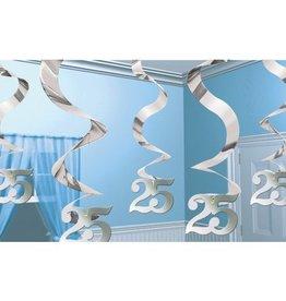 Feestfestijn Hangdecoratie Spiraal 25 Zilver