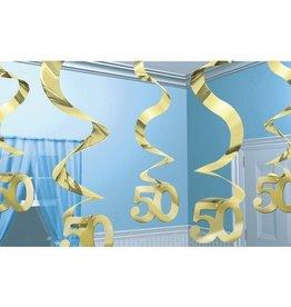 Feestfestijn Hangdecoratie Spiraal 50 Goud
