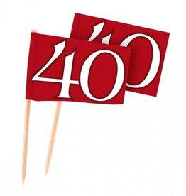 Feestfestijn Cocktailprikkers Robijn 40 jaar
