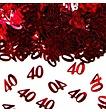 Feestfestijn Tafeldecoratie Robijn 40 jaar