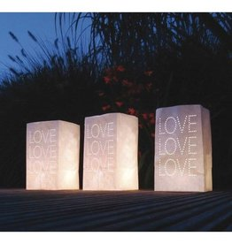 Feestfestijn Waxinelichtzakken Brandvertragend Love