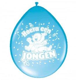Feestfestijn Ballon Hoera een Jongen 8 stuks
