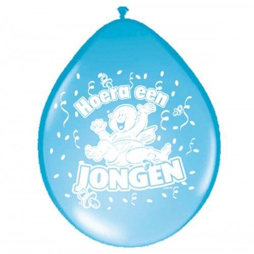 Feestfestijn Ballon Hoera een Jongen 8 stuks - 30 cm