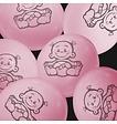Feestfestijn Ballon Dochter Roze 6 stuks - 30 cm