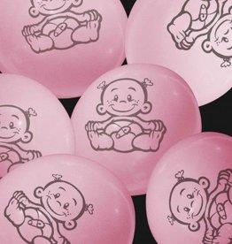 Feestfestijn Ballon Dochter Roze 6 stuks