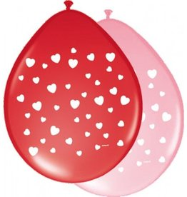 Feestfestijn Ballon Hartjes 8 stuks