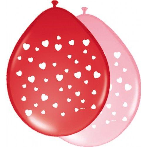 Feestfestijn Ballon Hartjes 8 stuks - 30cm