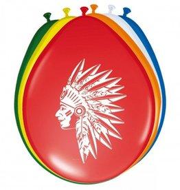 Feestfestijn Ballon Indiaan 8 stuks