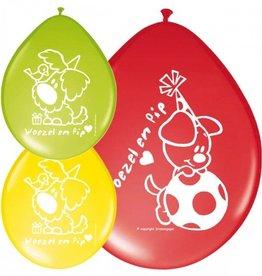 Feestfestijn Ballon Woezel en Pip 8 stuks
