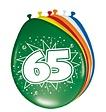 Feestfestijn Ballon 65 jaar 8 stuks - 30 cm