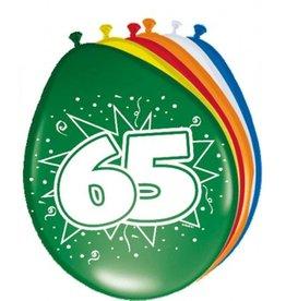 Feestfestijn Ballon 65 jaar 8 stuks