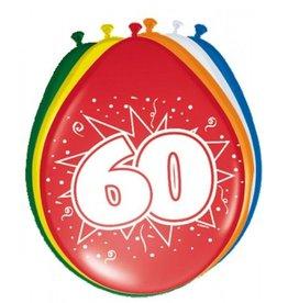 Feestfestijn Ballon 60 jaar 8 stuks