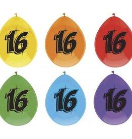 Feestfestijn Ballon 16 jaar 6 stuks