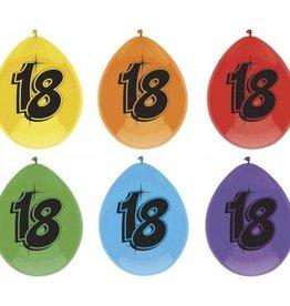 Feestfestijn Ballon 18 jaar 6 stuks
