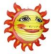 Feestfestijn Lampion Happy Sun 36 cm niet-brandvertragend