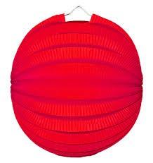 Feestfestijn Lampion Rood 23 cm niet-brandvertragend