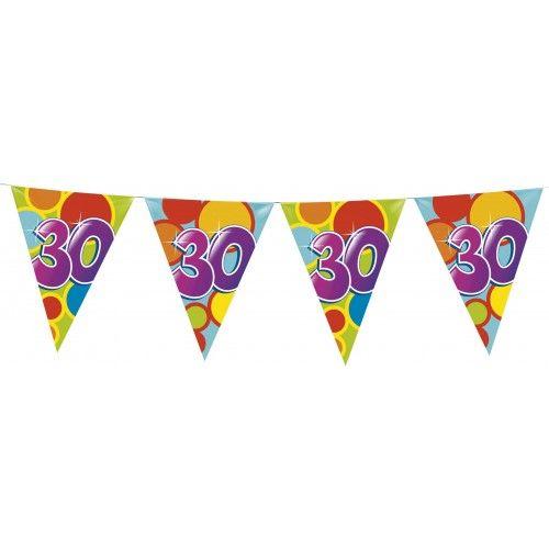Feestfestijn Vlaggenlijn 30 jaar - 10 meter