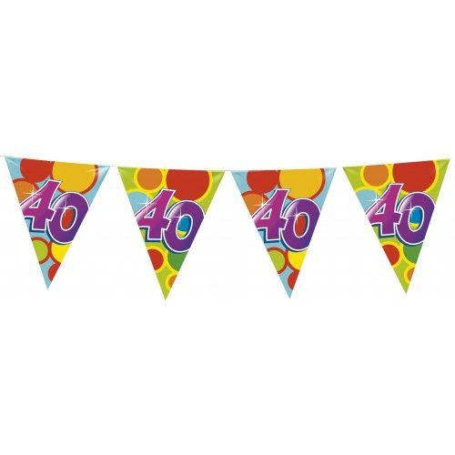 Feestfestijn Vlaggenlijn 40 jaar - 10 meter