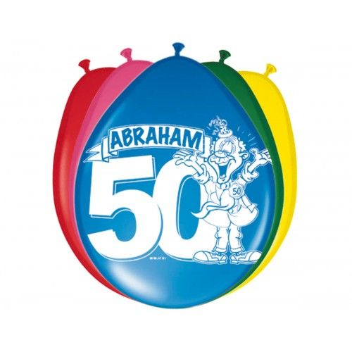 Feestfestijn Ballon Abraham 8 stuks - 30 cm