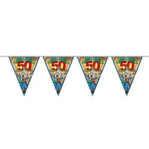 Feestfestijn Vlaggenlijn Abraham - 10 meter