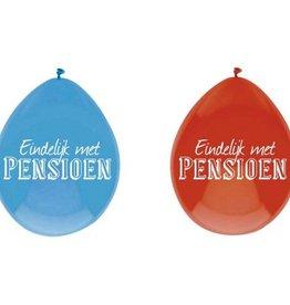 Feestfestijn Ballon Pensioen 6 stuks