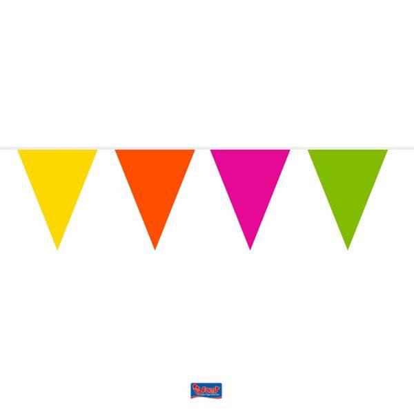Feestfestijn Vlaggenlijn Multicolour brandvertragend 10 meter