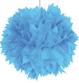 Feestfestijn Hangdecoratie Lichtblauw Pom Pom