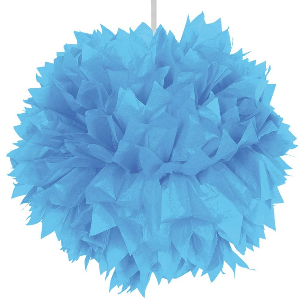 Feestfestijn Hangdecoratie Lichtblauw Pom Pom - 30cm