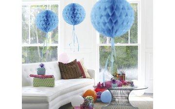 Feestfestijn Honeycomb rond Lichtblauw