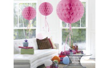 Feestfestijn Honeycomb rond Roze