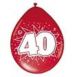 Feestfestijn Ballon 40 Metallic Robijn 8 stuks - 30 cm