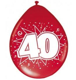 Feestfestijn Ballon 40 Metallic Robijn 8 stuks
