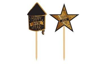 Feestfestijn Party prikkers Happy new year 20 stuks