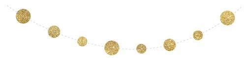 Feestfestijn Confetti slinger goud