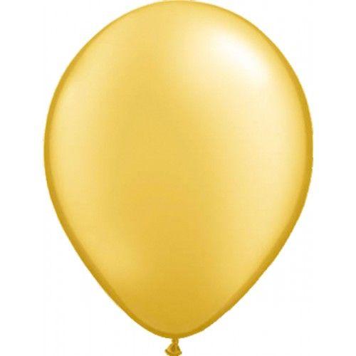 Feestfestijn Ballon Goud Metallic 100 stuks - 30 cm