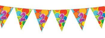Feestfestijn Vlaggenlijn 2 jaar - 10 meter