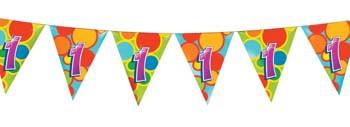Feestfestijn Vlaggenlijn 1 jaar - 10 meter