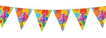 Feestfestijn Vlaggenlijn 4  jaar - 10 meter