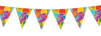 Feestfestijn Vlaggenlijn 5 jaar - 10 meter