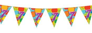 Feestfestijn Vlaggenlijn 7 jaar - 10 meter